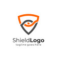 shield with eye logo protection symbol security vector image vector image