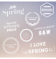 Spring Typographic Design Set vector image
