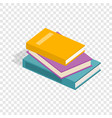 stack of books isometric icon vector image vector image