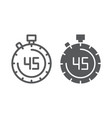 stopwatch line and glyph icon countdown and time vector image vector image