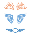 Stylized Bird wings vector image vector image