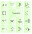 teamwork icons vector image vector image