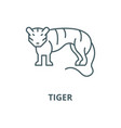 tiger line icon linear concept outline vector image