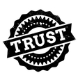 Trust stamp rubber grunge vector image vector image