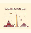 washington d c usa linear art style city vector image