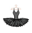 watercolor ballet tutu on a hanger vector image vector image