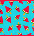 watermelon ice cream summer seamless pattern vector image vector image