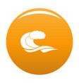 wave composition icon orange vector image vector image