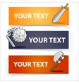 Weapon colorful headers or banners set vector image vector image