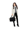 women dressed in stylish trendy clothes - female vector image vector image