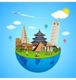 world landmarks concept vector image vector image