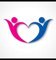 creative couple icon or happy valentine day design vector image