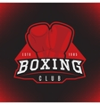 label of boxing vector image