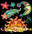 set of celestial symbols vector image