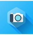 simple of camera icon in flat style vector image