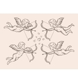hand-drawn sketch classic Cupid angel vector image