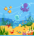 underwater background with ocean vector image