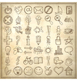 49 hand draw web icon design elements vector image