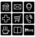 a set of stencils for map icons vector image vector image