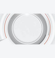 abstract futuristic white grey technology vector image vector image