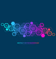 abstract plexus background with connected lines vector image vector image