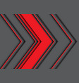 abstract red gray arrow direction design modern vector image vector image