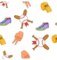 Baseball equipment pattern cartoon style vector image vector image