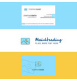beautiful image logo and business card vertical vector image vector image