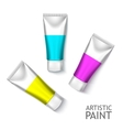 Blank Cosmetics Packages Set Tube Template vector image