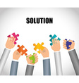 Business solutions design vector image vector image