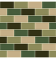 Camouflage Green Brick Wall vector image