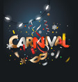 carnival invitation card with the paper mask vector image vector image