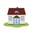 cartoon house icon isolated vector image