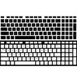computer keyboard isolated black and white vector image vector image