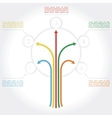 Concept of colorful tree for different design vector image