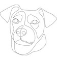 continuous line drawing cute dog vector image