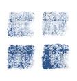 denim imprint texture on white background vector image vector image