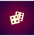 dice icon Flat design style vector image vector image
