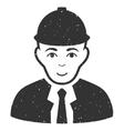 Engineer Grainy Texture Icon vector image vector image