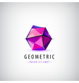 faceted origami logo vector image vector image