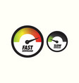 fast and slow download speedometers vector image
