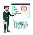 financial consultant businessman with vector image