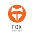 fox creative logo vector image