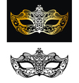 Golden Carnival Mask vector image vector image