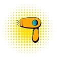 Hairdryer icon comics style vector image