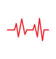 heart beat ekg graphic design template vector image vector image