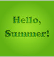 hello summer typographic inscription vector image