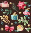 holiday seamless pattern vector image vector image