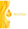 Honey colors juicy background with drops vector image vector image