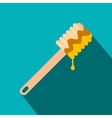 Honey dipper flat icon vector image